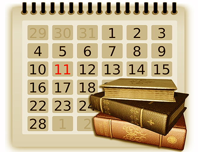 Квартальный календарь с деревьями